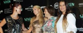 Paris Hilton foi a estrela na Seven!
