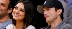 Mila Kunis e Ashton Kutcher foram pais de uma meni