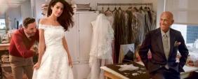 Vestido Noiva Amal replicado por Oscar de la Renta